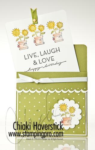 Sunflower pullup card