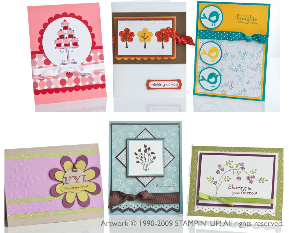 stamp-a-stack class card samples